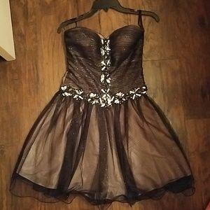 Sparkly and jeweled black dress